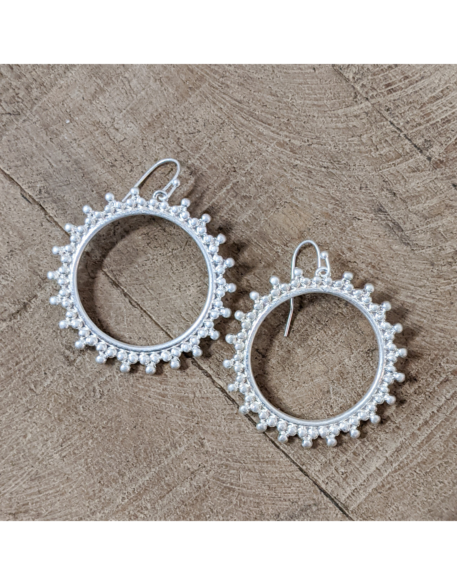 Bo B.K.  Designs Earring Decorative Hoop Silver