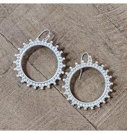 Bo B.K.  Designs Earring Decorative Hoop Silver