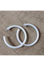 Bo B.K.  Designs Earring Silver Hoop
