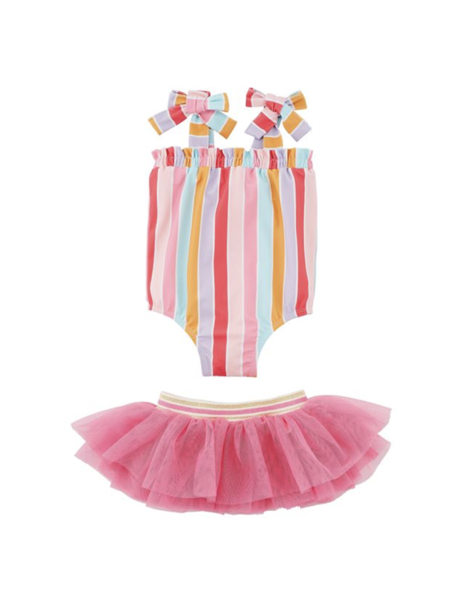 Mud Pie Mud Pie Swimsuit Stripe Tutu