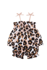 Mud Pie Mud Pie Short Set Leopard