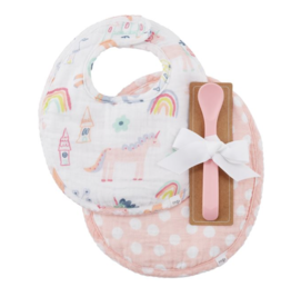 Mud Pie Bibs & Spoon Unicorn Muslin