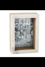 Mud Pie Frame 5x7 Wood Marble Shadow