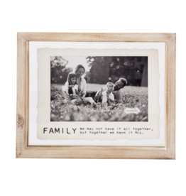 Mud Pie Frame 4X6 Family Glass Wood