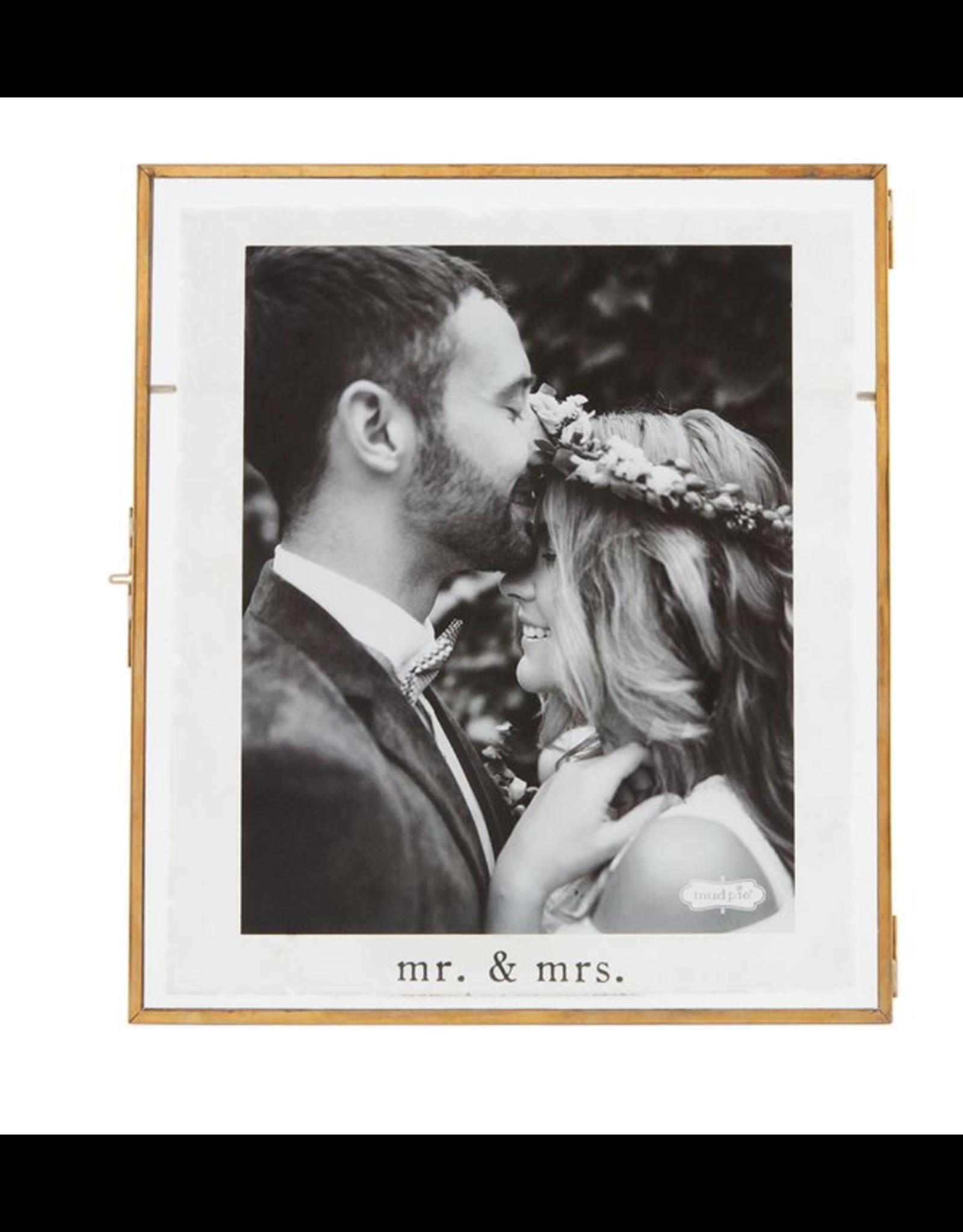 Mud Pie Frame Mr & Mrs 8x10 Glass