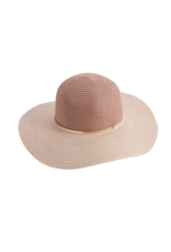 Mud Pie Sun Hat Colorblock Blush