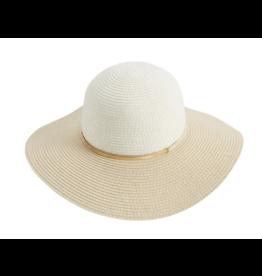 Mud Pie Sun Hat Colorblock Tan