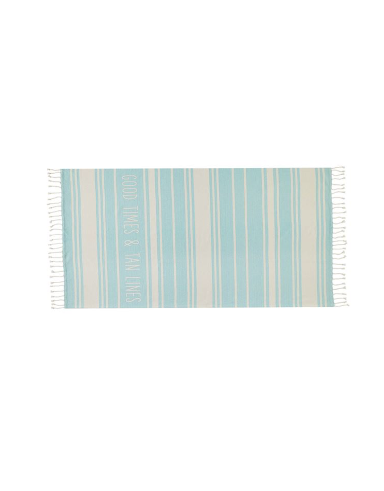 Mud Pie Beach Towel Turkish Light Blue