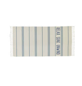 Mud Pie Beach Towel Turkish Navy