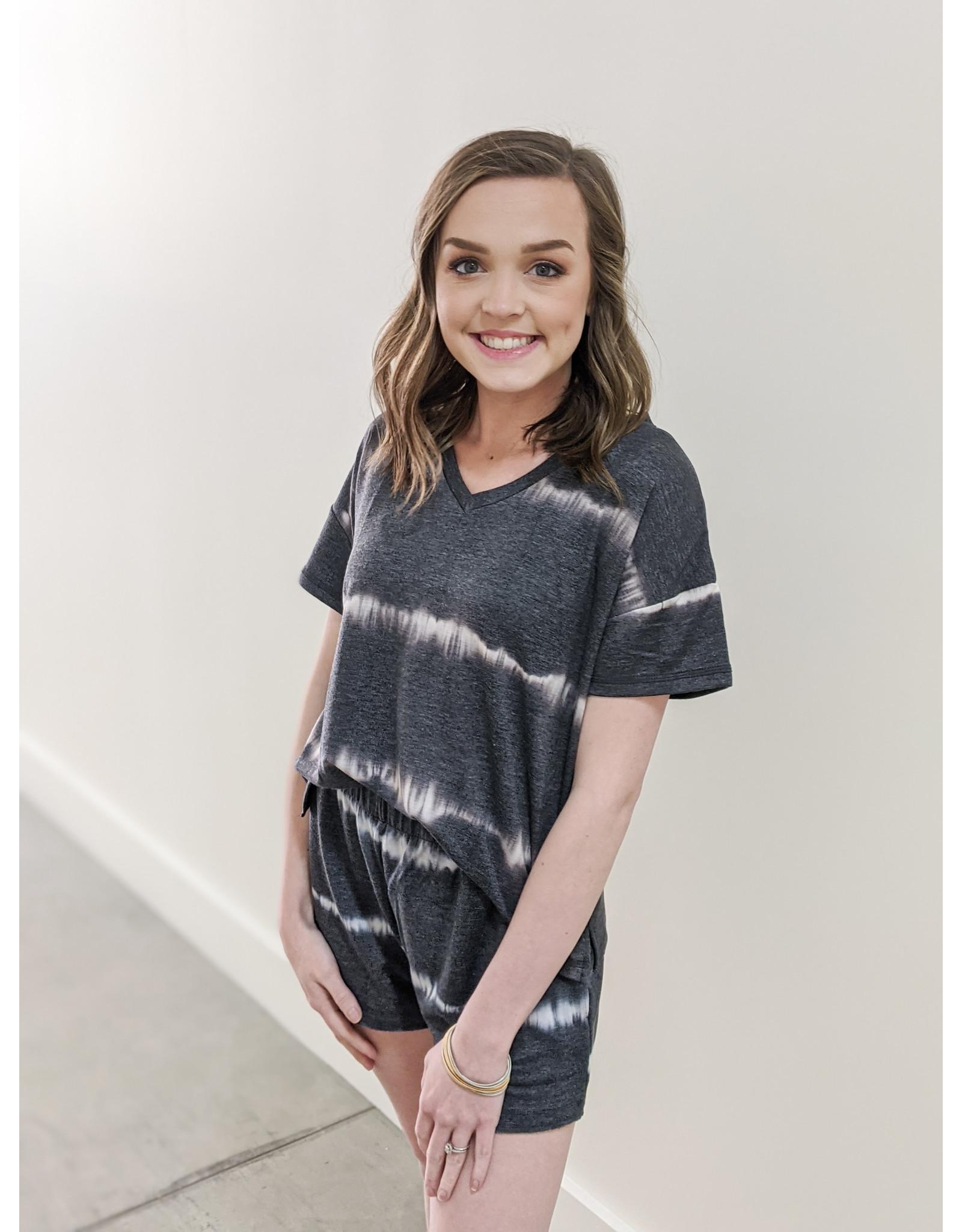 Mary Square Randi Shorts Black Tie Dye