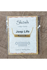 Skosh Necklace Jeep Bar Gold 16+1
