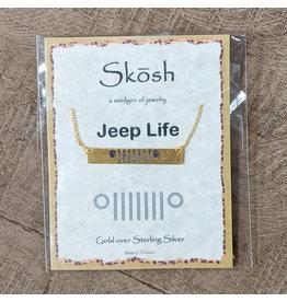 Skosh Necklace Jeep Bar Gold