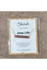 Skosh Necklace Jeep Bar Rose Gold