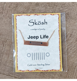 Skosh Necklace Jeep Bar Rose Gold