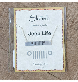 Skosh Necklace Jeep Bar Silver