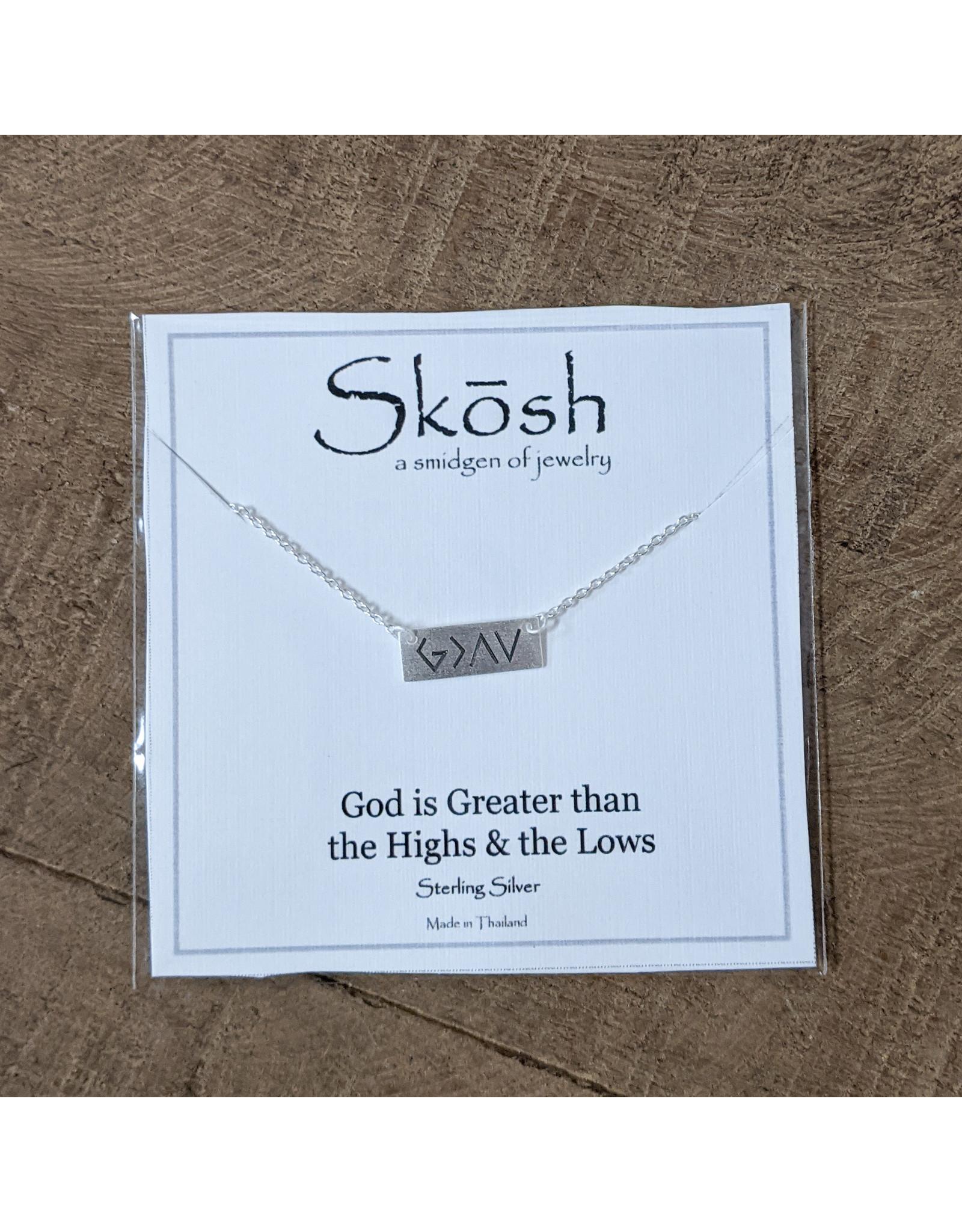 Skosh Necklace God Greater Sliver Short