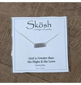 Skosh Necklace God Greater Silver Short
