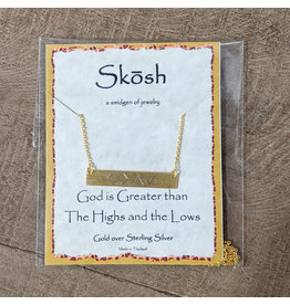 Skosh Necklace God Greater Gold Long