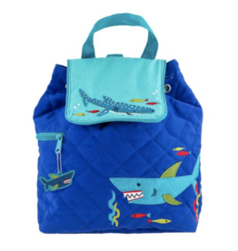 Stephen Joseph Backpack Quilted Shark