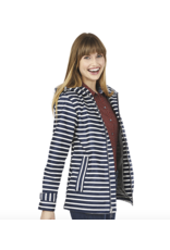 Charles River Women's Navy Stripe Raincoat