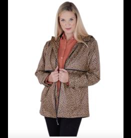 Charles River Women's Leopard Raincoat