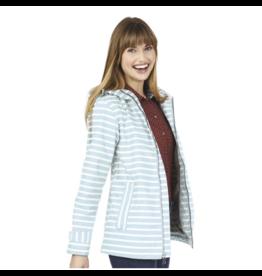 Charles River Women's Aqua Stripe Raincoat