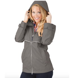 Charles River Women's Grey Raincoat
