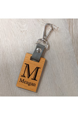 P Graham Dunn Wood Rectangle Keychain Includes Laser Engraving