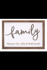 P Graham Dunn Framed Family Sign Includes Laser Engraving