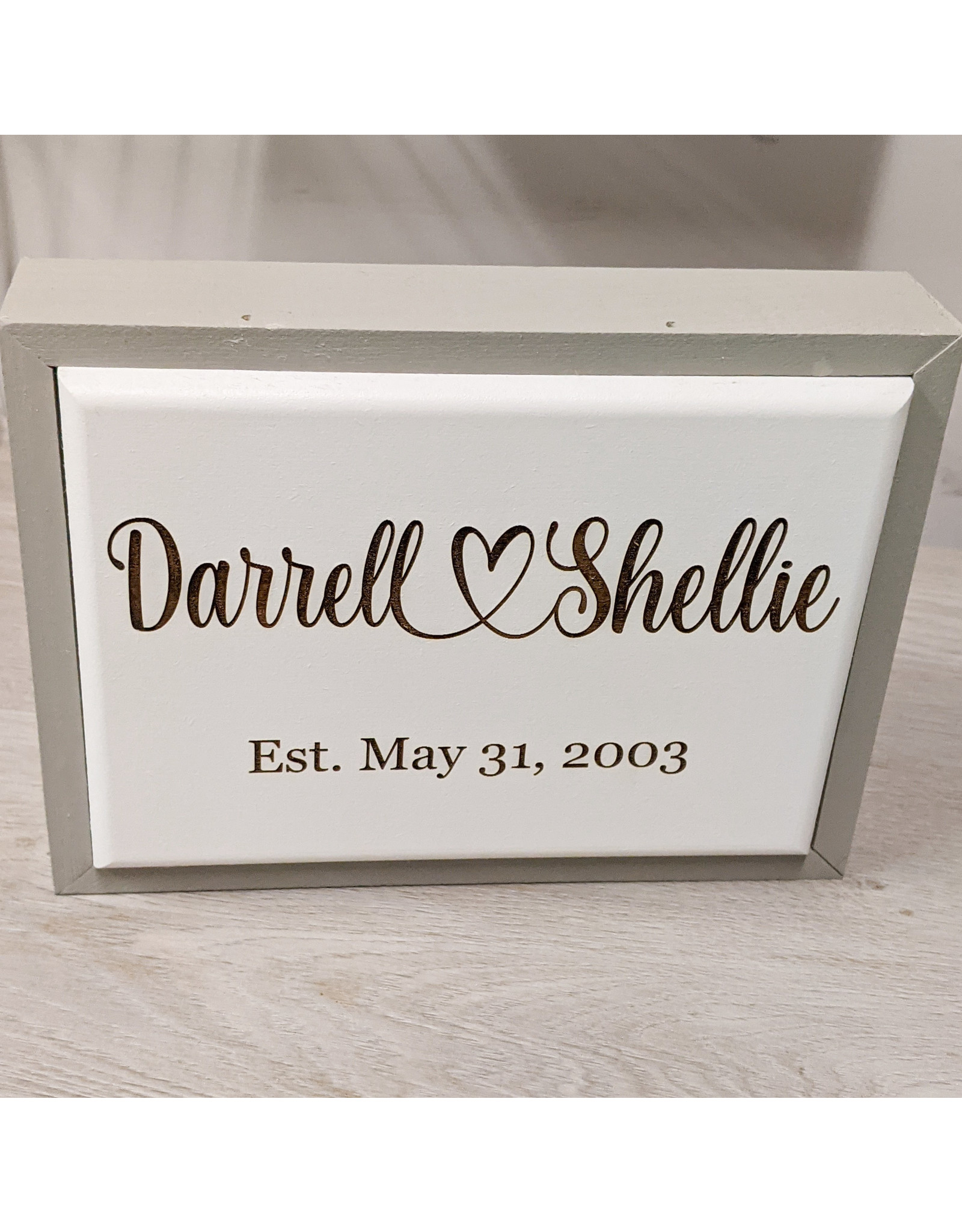 P Graham Dunn Framed Small Sign Blank Includes Laser Engraving