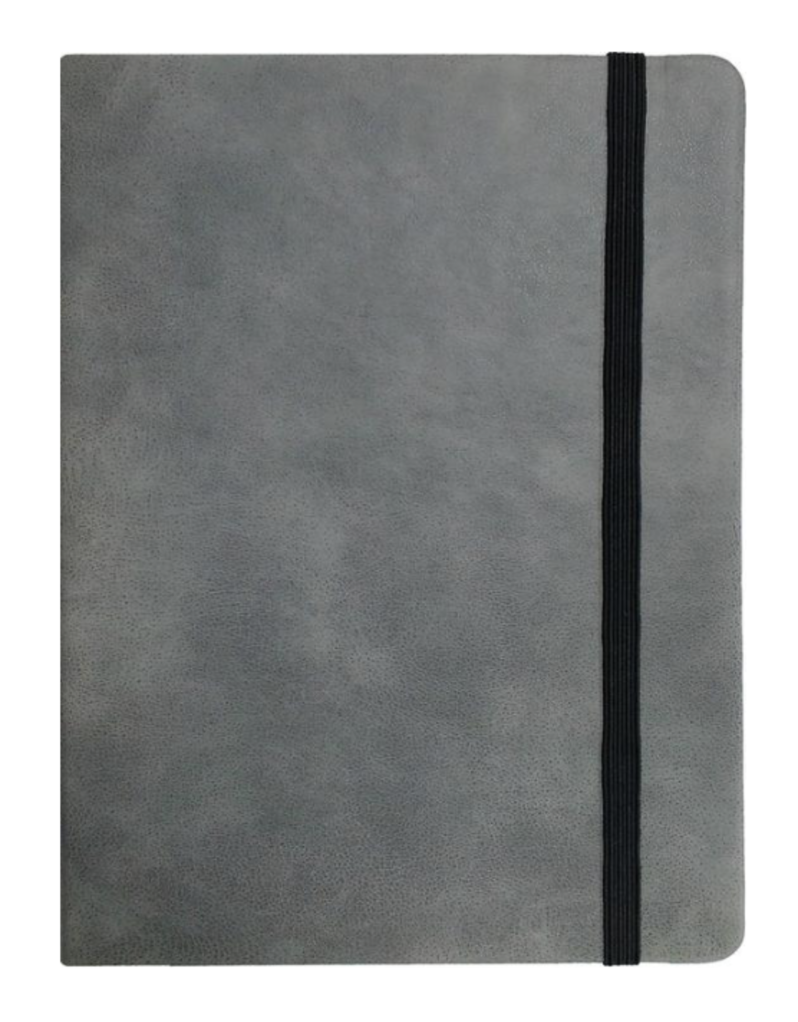 P Graham Dunn Gray Faux Leather Notebook SM