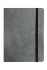 P Graham Dunn Notebook Grey Faux Leather Large Includes Laser Engraving