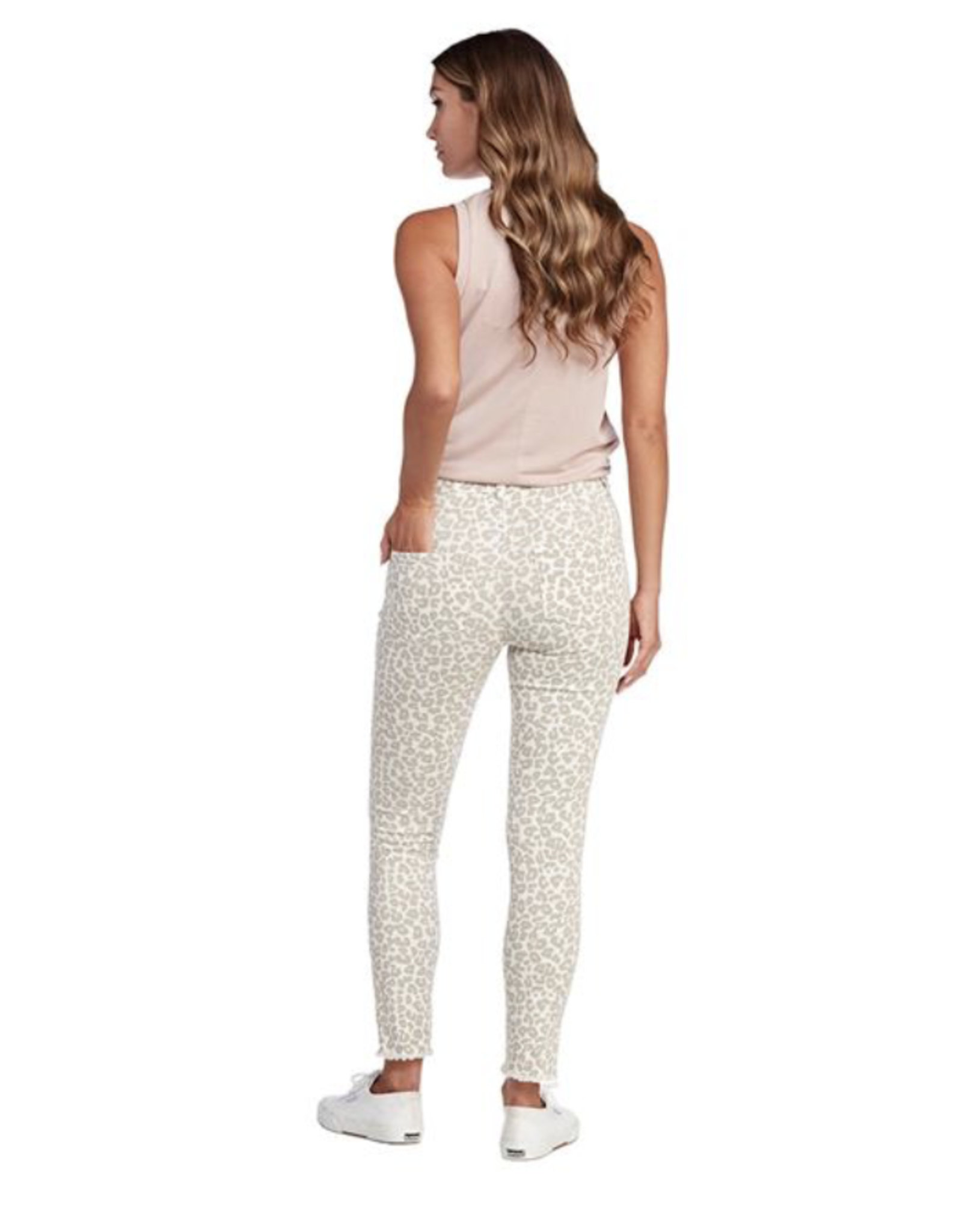 Mud Pie Rory Jeans White Leopard