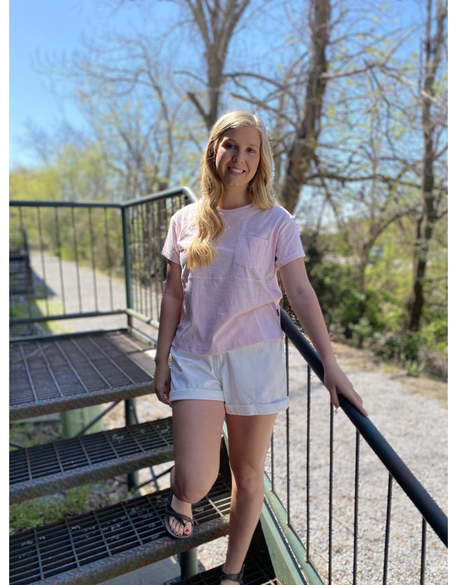 Southern Shirt Company Varsity Blues Tee Pink Lemonade