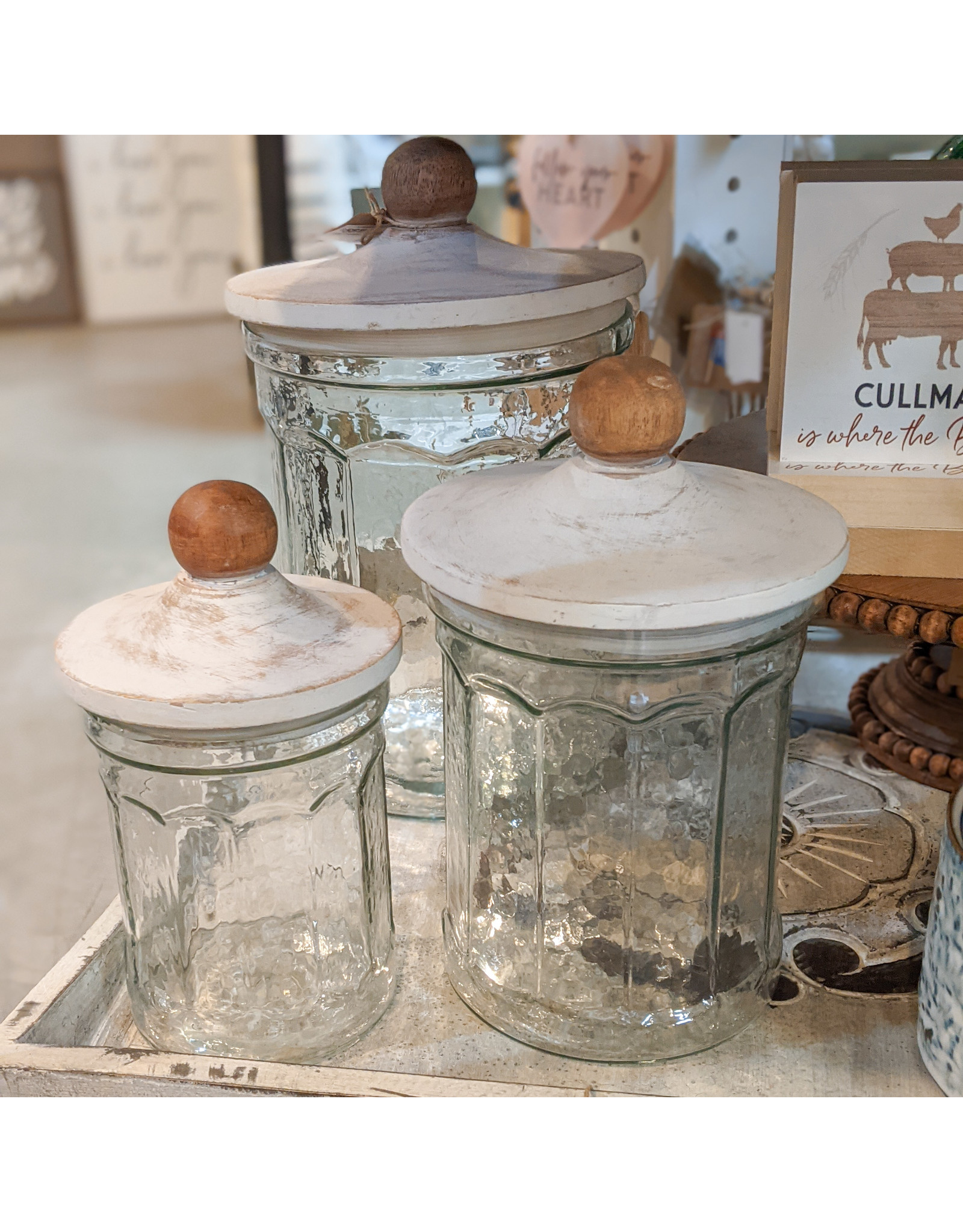 Mud Pie Glass Canister Set