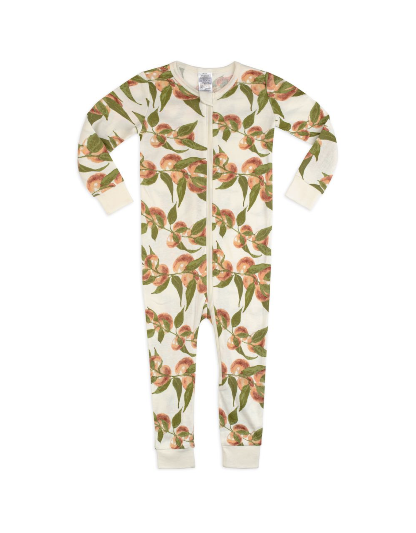Milkbarn Zipper Pajama Organic 6-9M Peaches