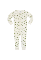 Milkbarn Zipper Pajama Organic 3-6M Grasshopper