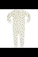 Milkbarn Zipper Pajama Organic 6-9M Grasshopper