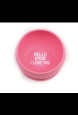 Bella Tunno Suction Bowl Hello Food I Love You