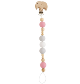 Mud Pie Pacy Clip Girl Elephant Wooden