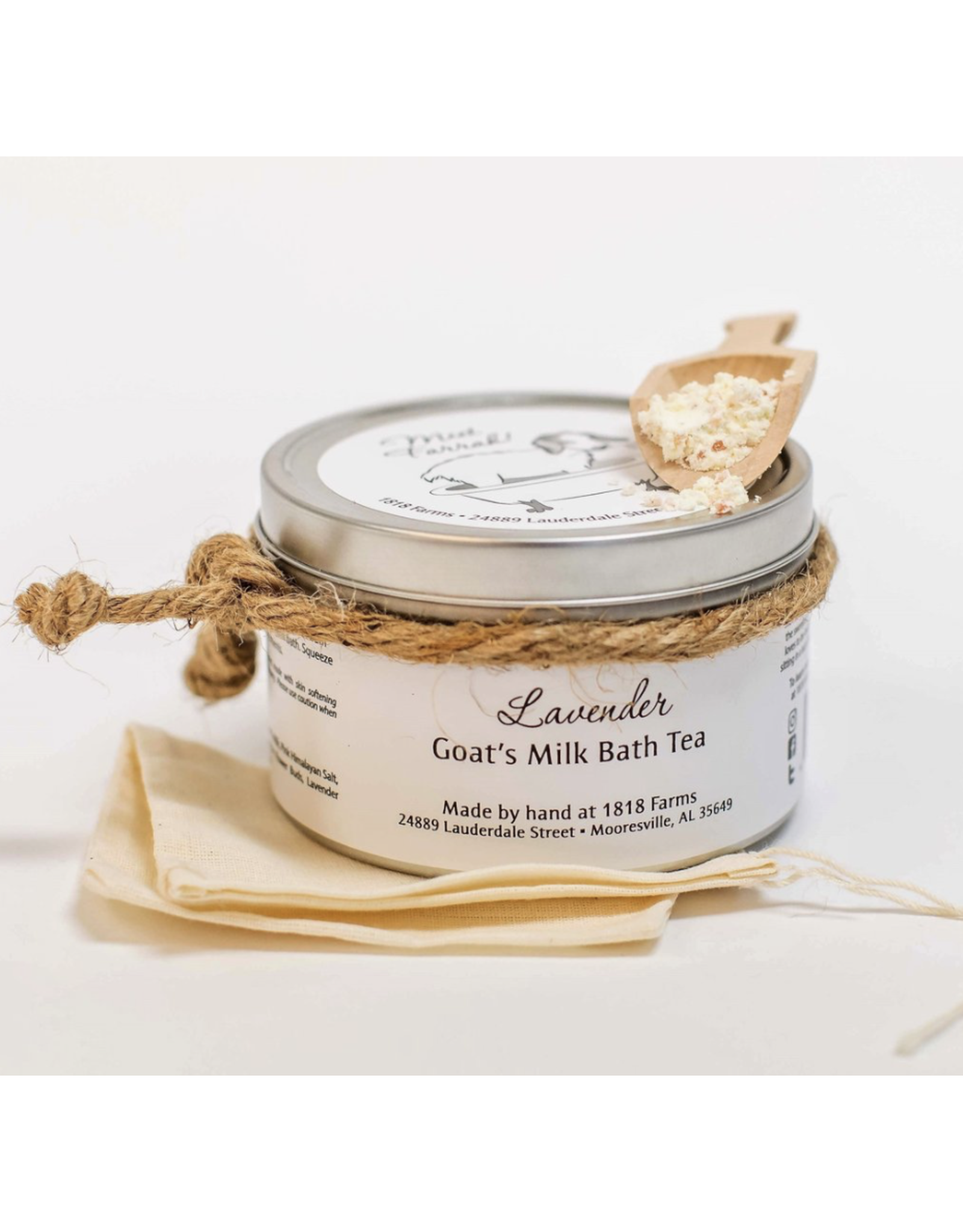 1818 Farms Lavender Goat Milk Bath Tin