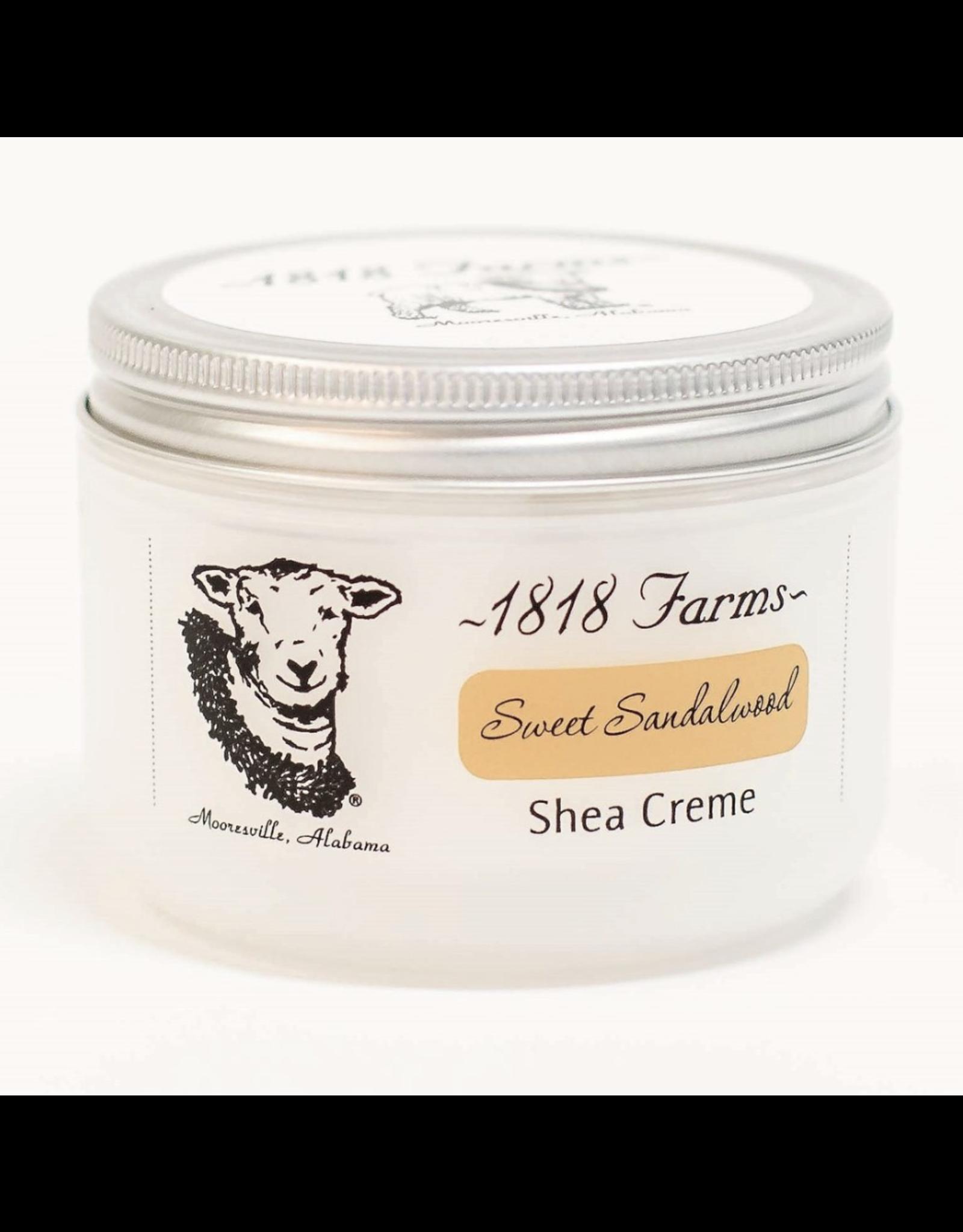 1818 Farms Shea Creme Sweet Sandalwood 4 OZ