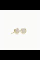 Kendra Scott Earring Nola Stud Gold Iridescent Drusy