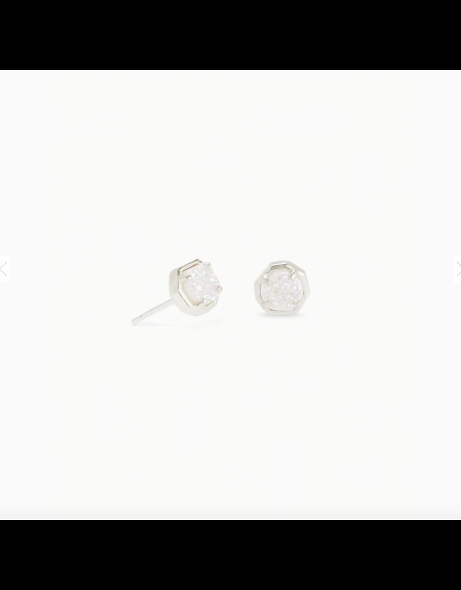Kendra Scott Earring Nola Stud RHOD Iridescent Drusy