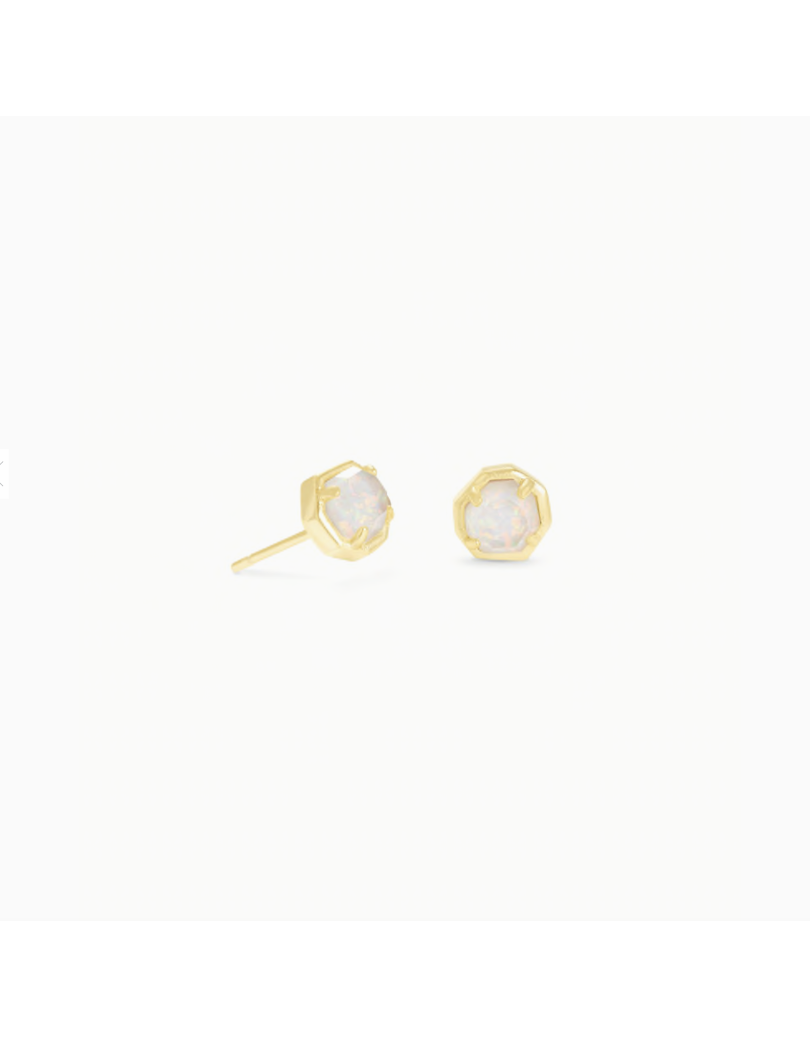 Kendra Scott Earring Nola Stud Gold White Opal Illusion