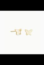 Kendra Scott Earring Lillia Butterfly Stud Gold Metal