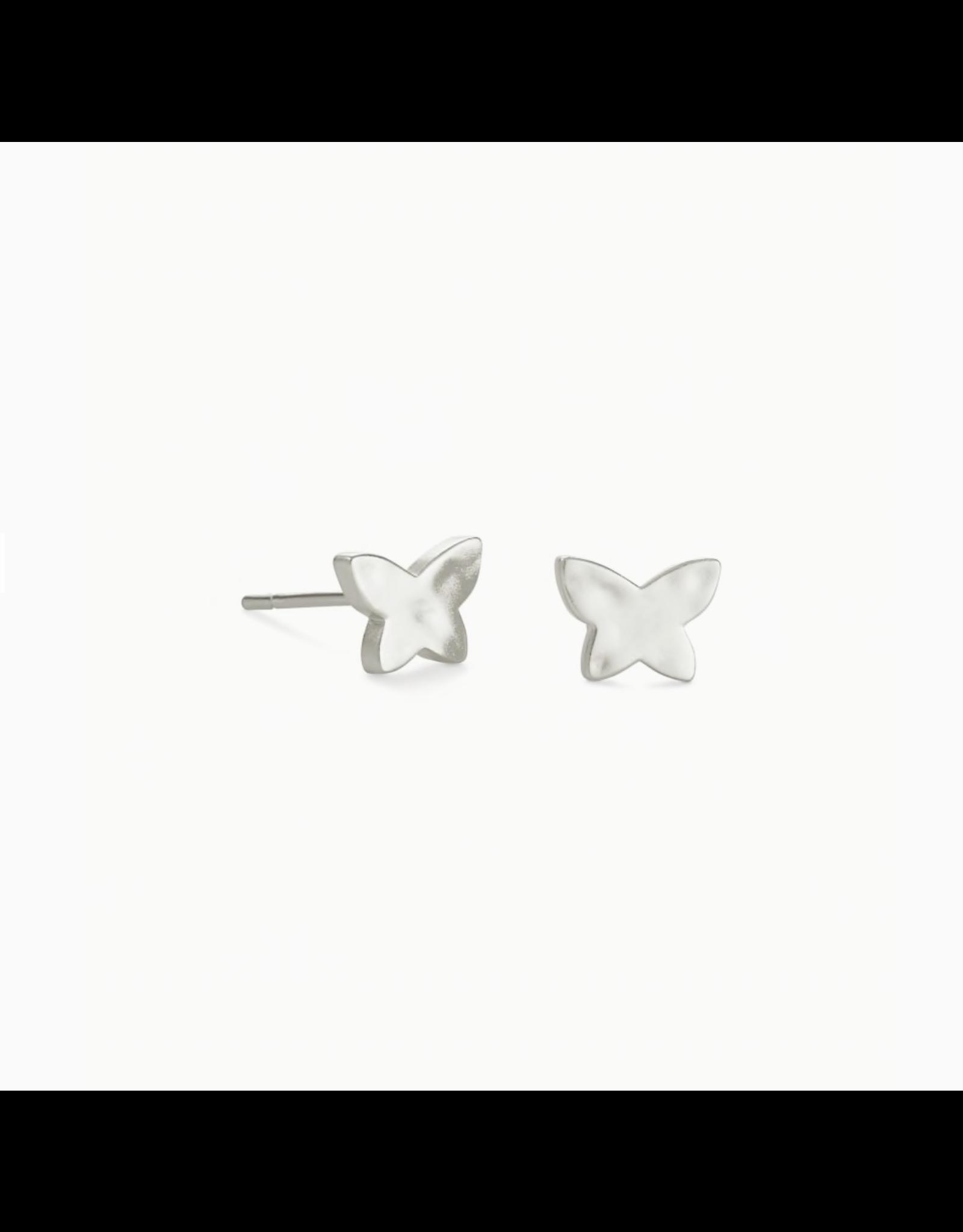 Kendra Scott Earring Lillia Butterfly Stud RHOD Metal