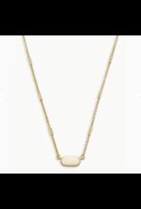 Kendra Scott Necklace Fern Gold Metal