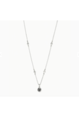 Kendra Scott Necklace Nola Short Pendant RHOD Platinum Drusy