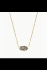 Kendra Scott Necklace Elisa Gold Platinum Drusy